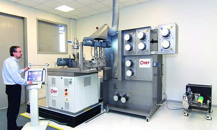 UK's FET installed a new FET-100 Series laboratory melt spinning system for yarn