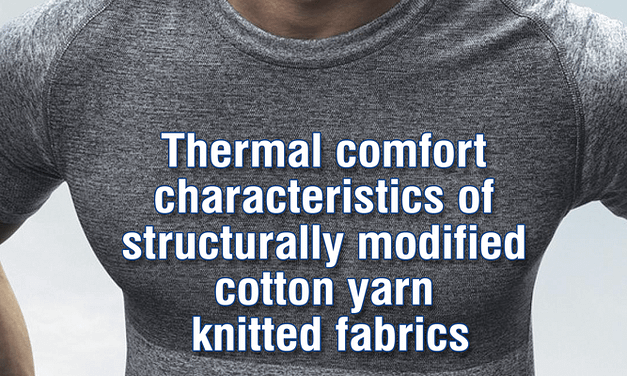 Thermal comfort characteristics of structurally modified cotton yarn knitted fabrics part 1