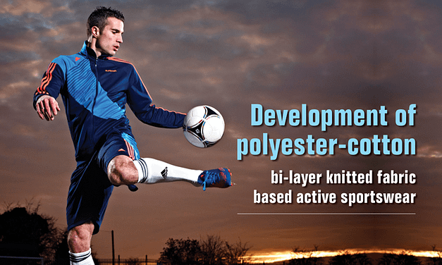 Development of polyester-cotton  bi-layer knitted fabric based active sportswear