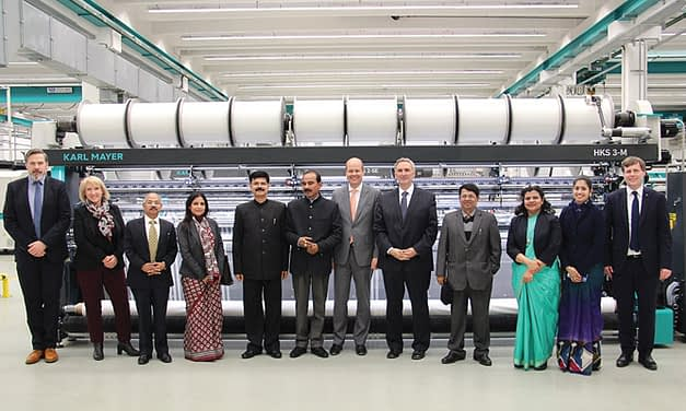 Indian Minister of State for Textiles visits Karl Mayer